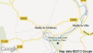 Plan de Mailly-le-Château