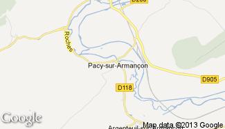 Plan de Pacy-sur-Armançon