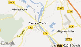Plan de Pont-sur-Yonne