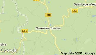 Plan de Quarré-les-Tombes