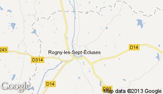 Plan de Rogny-les-Sept-Écluses
