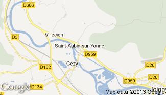 Plan de Saint-Aubin-sur-Yonne