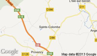 Plan de Sainte-Colombe