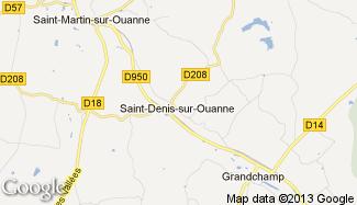 Plan de Saint-Denis-sur-Ouanne