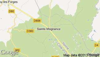 Plan de Sainte-Magnance