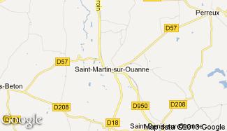 Plan de Saint-Martin-sur-Ouanne