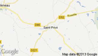 Plan de Saint-Privé