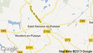 Plan de Saint-Sauveur-en-Puisaye