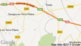 Plan de Sauvigny-le-Beuréal