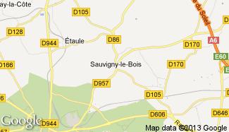 Plan de Sauvigny-le-Bois