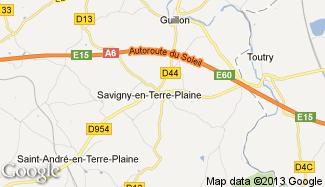 Plan de Savigny-en-Terre-Plaine