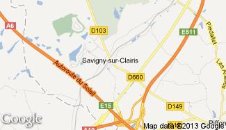 Plan de Savigny-sur-Clairis