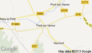 Plan de Theil-sur-Vanne