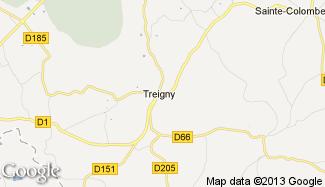 Plan de Treigny