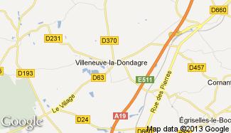Plan de Villeneuve-la-Dondagre