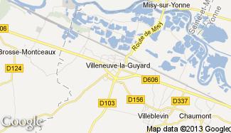 Plan de Villeneuve-la-Guyard