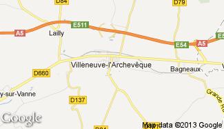 Plan de Villeneuve-l'Archevêque