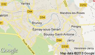 Plan de Épinay-sous-Sénart