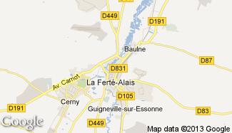 Plan de La Ferté-Alais