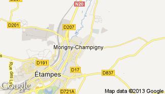 Plan de Morigny-Champigny