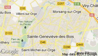 Plan de Sainte-Geneviève-des-Bois