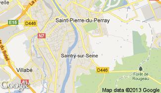 Plan de Saintry-sur-Seine