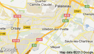 Plan de Villebon-sur-Yvette