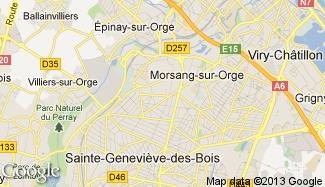 Plan de Villemoisson-sur-Orge