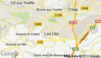 Plan de Les Ulis