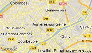 Plan de Asnières-sur-Seine