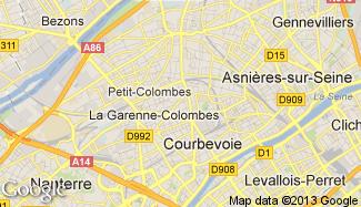 Plan de La Garenne-Colombes