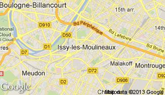 Plan de Issy-les-Moulineaux
