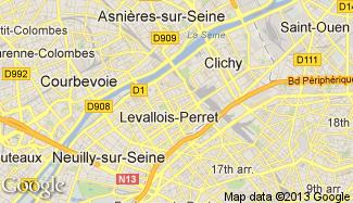 Plan de Levallois-Perret