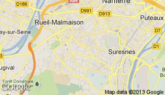 Plan de Rueil-Malmaison
