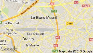 Plan de Le Blanc-Mesnil
