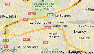 Plan de La Courneuve