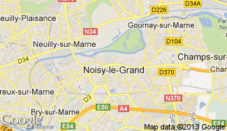 Plan de Noisy-le-Grand