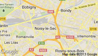 Plan de Noisy-le-Sec