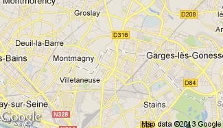 Plan de Pierrefitte-sur-Seine