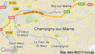 Plan de Champigny-sur-Marne
