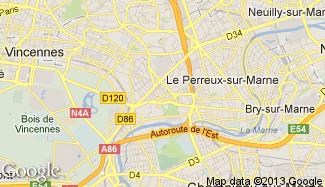 Plan de Nogent-sur-Marne