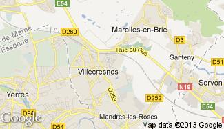 Plan de Villecresnes