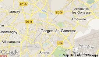 Plan de Garges-lès-Gonesse