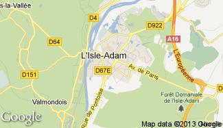 Plan de L'Isle-Adam