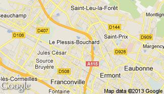 Plan de Le Plessis-Bouchard