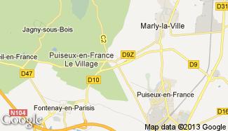 Plan de Puiseux-en-France