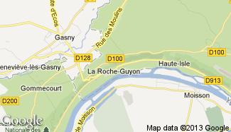 Plan de La Roche-Guyon