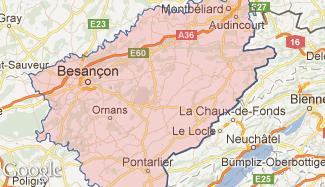Plan du Doubs