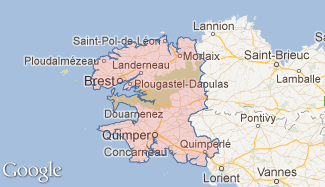 Plan du Finistère