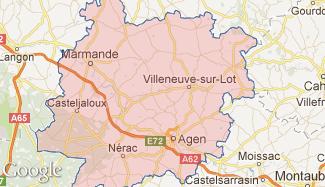Plan du Lot-et-Garonne